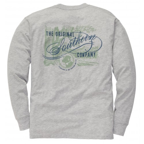 Original Southern Tee: Lt. Grey Heather Long Sleeve